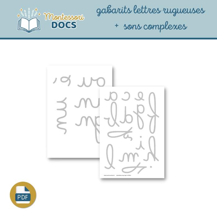 Gabarits lettres rugueuses sans boucles