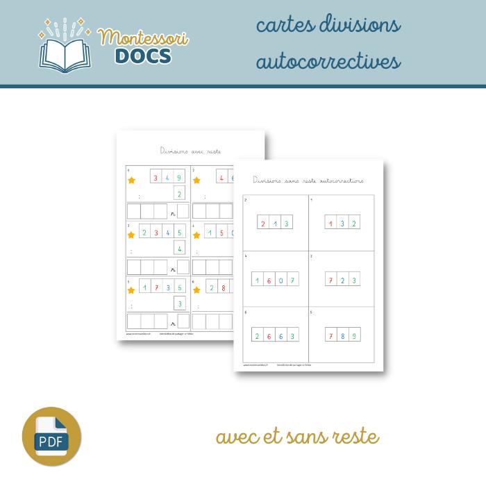 Cartes divisions autocorrectives