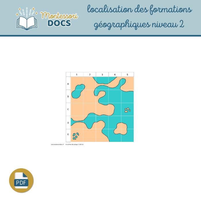 Localisation formations géographiques niveau 2