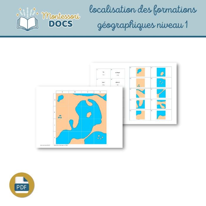 Localisation formations géographiques niveau 1