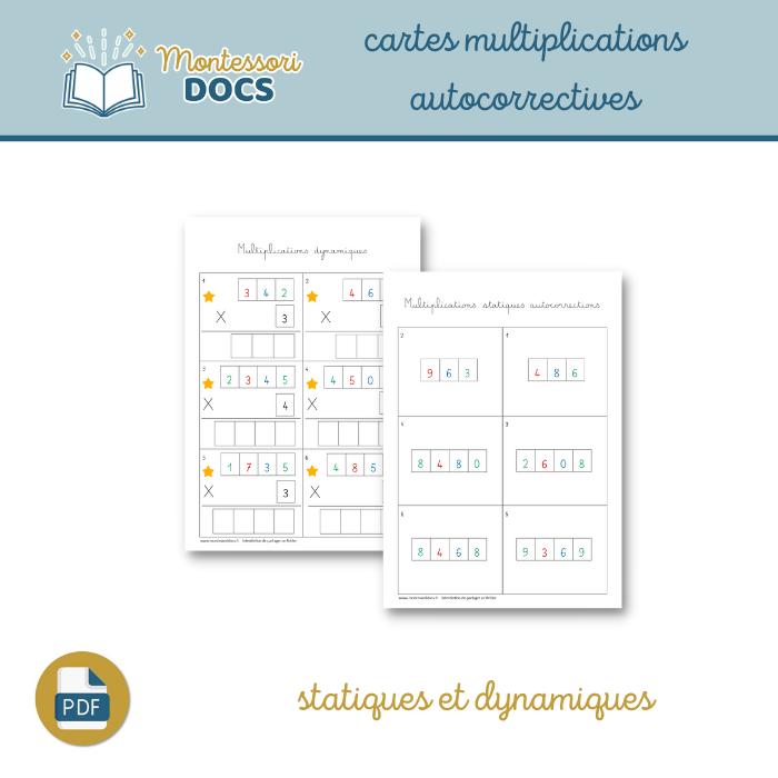 Cartes multiplications autocorrectives