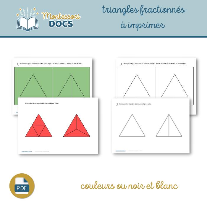 Triangles fractionnés à imprimer