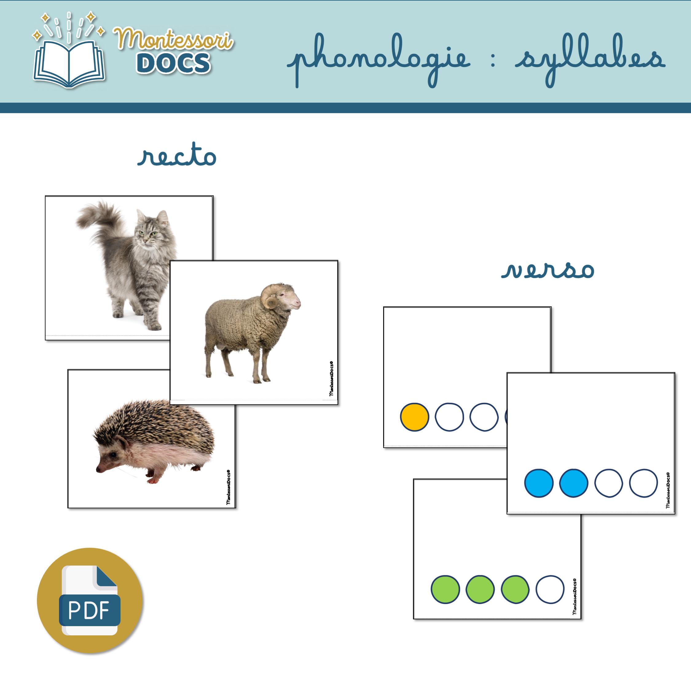 phonologie les syllabes niveau 1