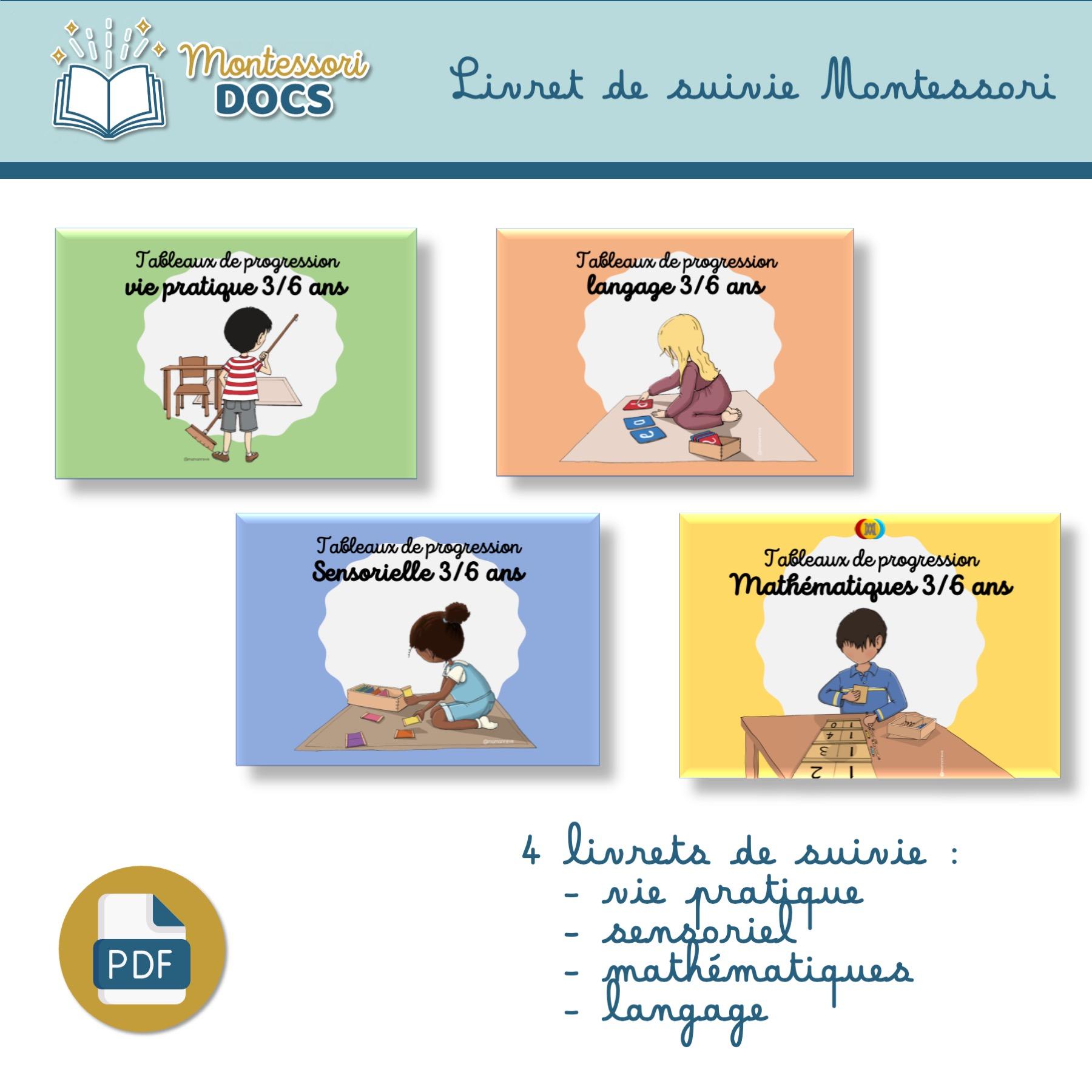 Livret de progression Montessori